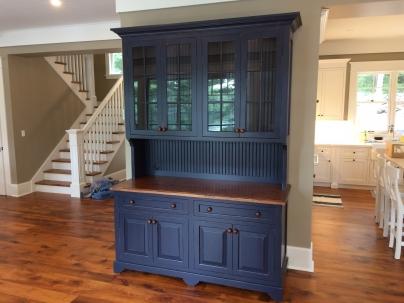 Blue Dining Room Hutch